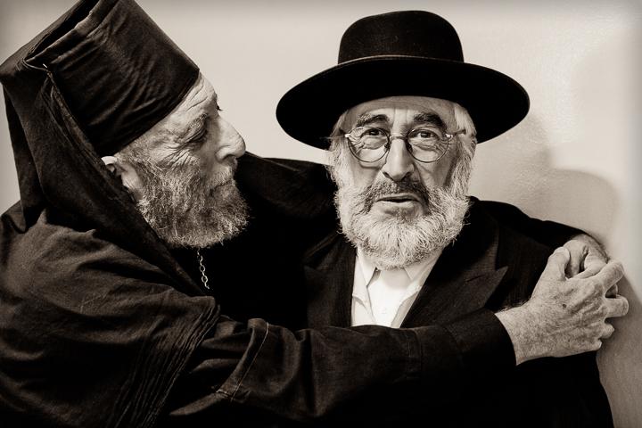 """Esau's Kiss."" (Backstage of ""Fiddler on the Roof"", an Encore! production, Jerusalem, 2010.)"