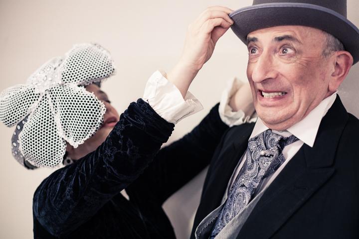 "Backstage of ""My Fair Lady"", an Encore! production, Jerusalem, 2013."