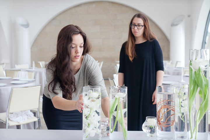 Power couple. Not long after making Aliyah, Mookie Cohen, a flower designer from Sidney and New York, does arrangements for a wedding in Jerusalem...